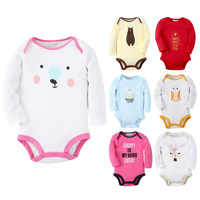 Новая мода осень детские комбинезон детские медведь олень pattern облака один штук с длинным рукавом тело костюмы для девочек одежда 6 стиль