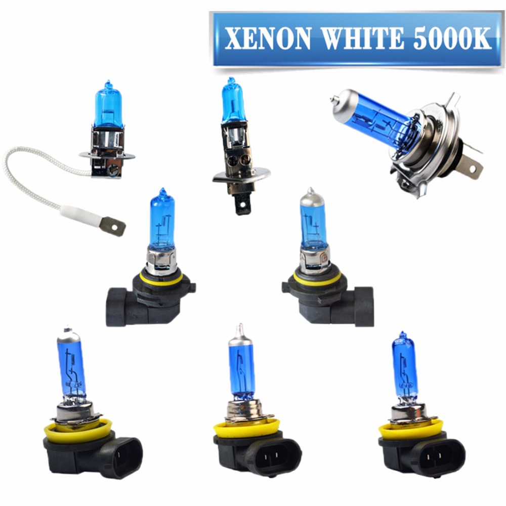 Hippcron Super White Halogen Bulb H1 H3 H4 H7 H8 H9 H11 9005 HB3 9006 HB4 12V 55W 5000K Quartz Glass Car Headlight Lamp цена