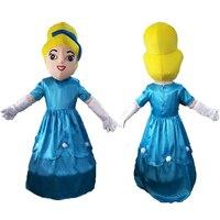 Wysokiej Jakości Dorosłych dla księżniczka Kopciuszek księżniczka maskotka maskotki kostium Halloween birthday party cosplay
