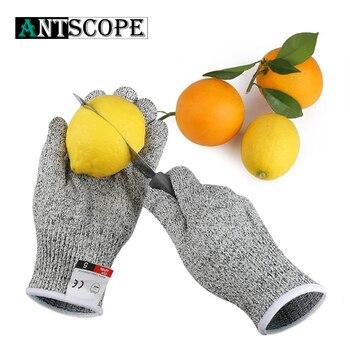 1 para rękawice odporne na cięcia Hppe Anti-Cut rękawice rękawice robocze ochronne palec kuchnia mężczyźni odporne na zużycie rękawice ochronne S -Xl