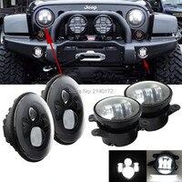 7INCH 40W Jeeps Wrangler LED Headlight And 2PCS 4INCH 30W LED Fog Lights For Wrangler JK