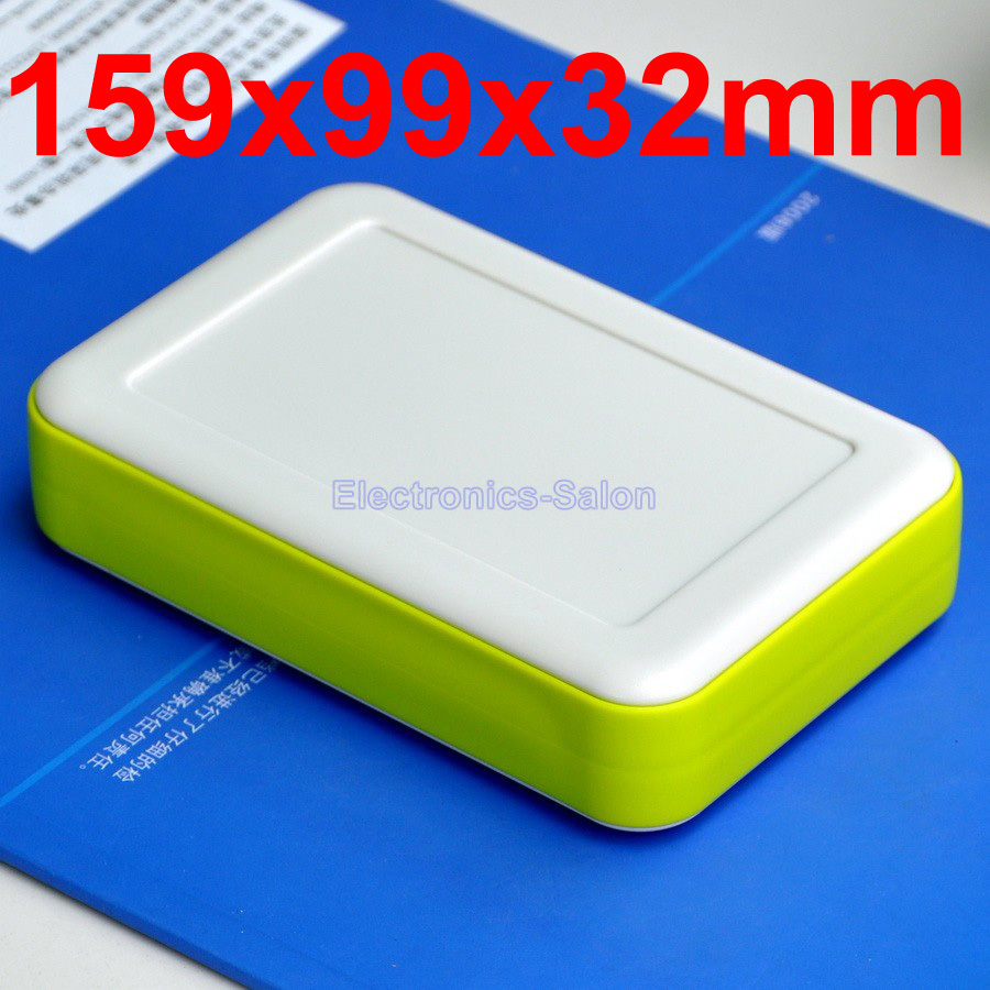 HQ Hand-Held Project Enclosure Box Case,White-Lawngreen, 159 X 99 X 32mm.