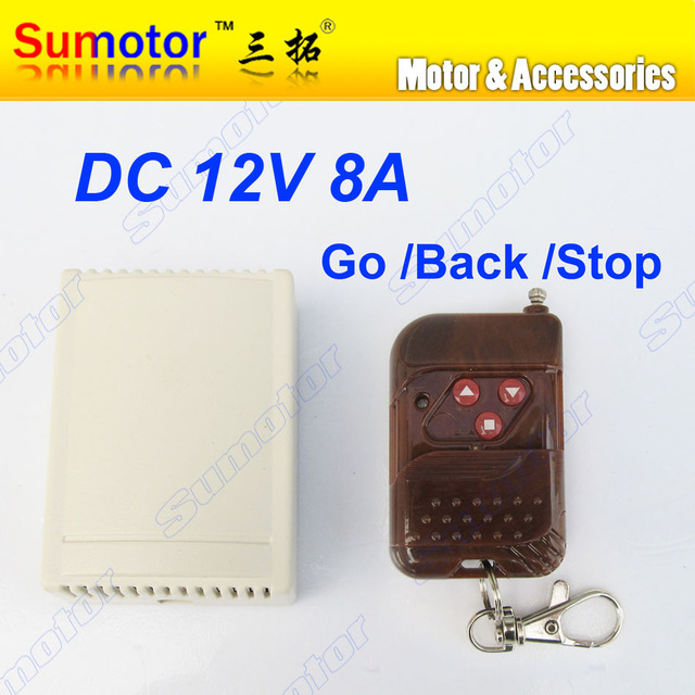 DC 12V 8A motor remote wireless controller switch forward reversal 315MHZ 2 channel RF Linear actuator SMART home  gate open