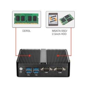 Image 3 - HLY Mini PC Dual LAN Celeron N2810 Celeron J1900 Mini Computer Gigabit LAN Windows 7 pfsense firewall PC Mini 2*COM HDMI TV BOX