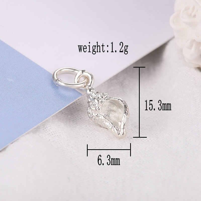 925 esterlina encantos jóias de prata Pingente de mulheres presentes de aniversário Para fazer Jóias Colar de concha Pulseira Acessórios 1 PCS