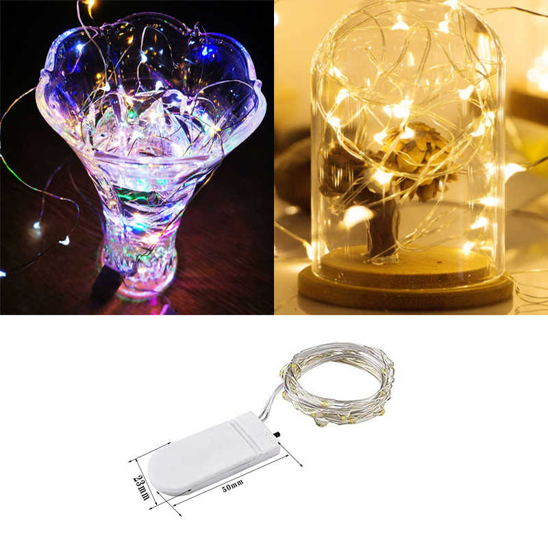 decorative led lights 1M 2M  Micro LED string/fairy lights for holiday/Wedding/Christmas/garland Light led decoration