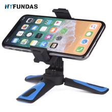 NYFundas Mini Tripod Camera Phone Travel Stabilizer Stand Holder for Apple iphone 7 8 6 plus X huawei p30 p20 Pro lite Smarphone