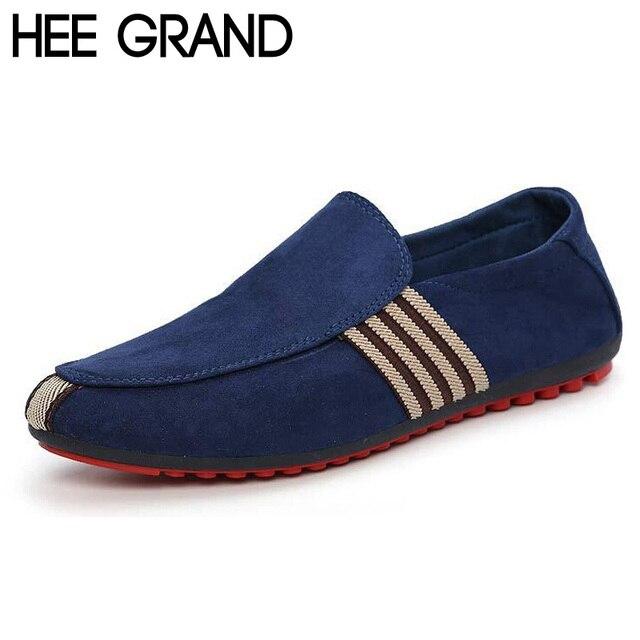 ХИ GRAND Марка 2017 Мода Slip-On Плоские Дышащие Повседневная Обувь Мужчины, полосатый Твердые Мужчины Летняя Мода Обувь XMR212