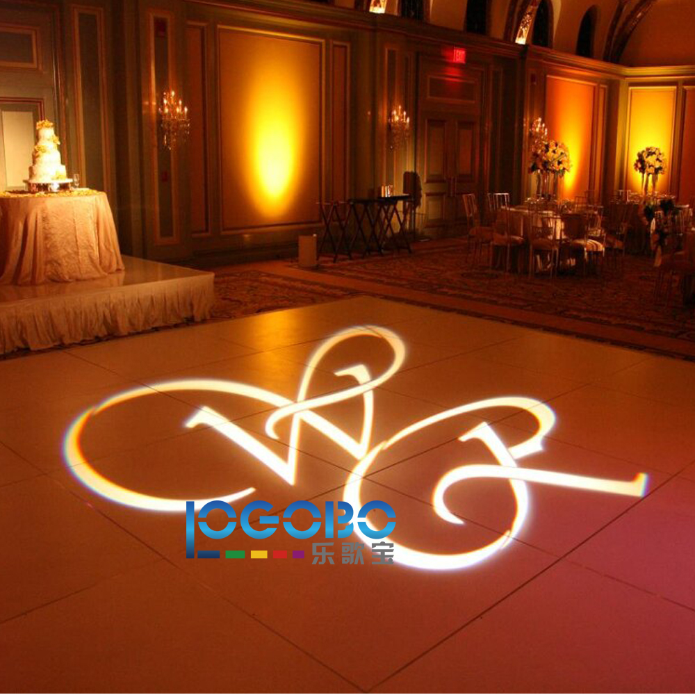 20w Rotating Logo Projetor Led Decoracao Gobo Projector Light Custom Wedding Gift Dj Lighting Packages Fast Free Shipping In Advertising Lights From