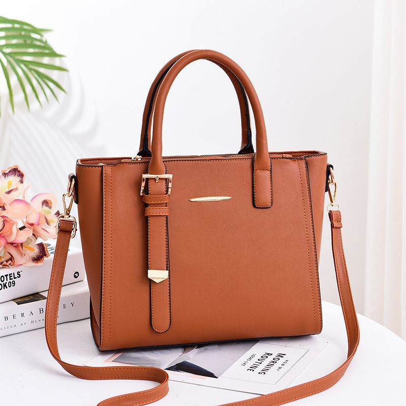 Women 39 s bag new European and American fashion trend big bag PU leather Messenger shoulder bag handbag in Top Handle Bags from Luggage amp Bags