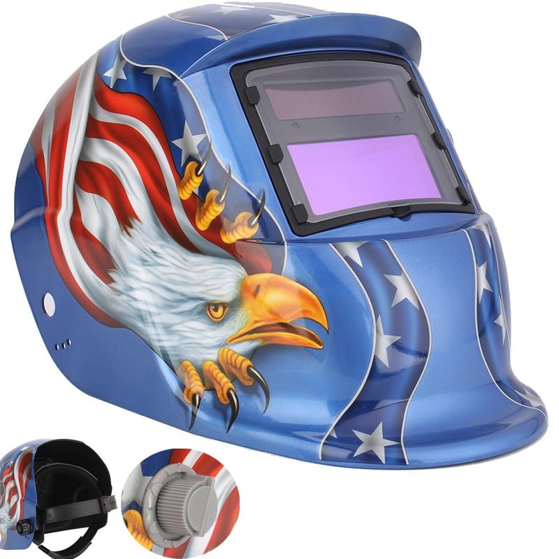 Welding Mask Eagle Solar Auto Darkening TIG MIG MMA Electric Welding Helmet/Welding Lens For Welding Machine OR Plasma Cutter  цены