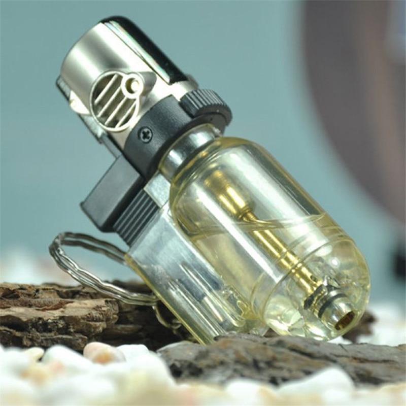 Прозрачные струи пистолет зажигалка бутан факел зажигалка многоразового газовой прикуривателя ветрозащитный Кухня барбекю курение гадже...