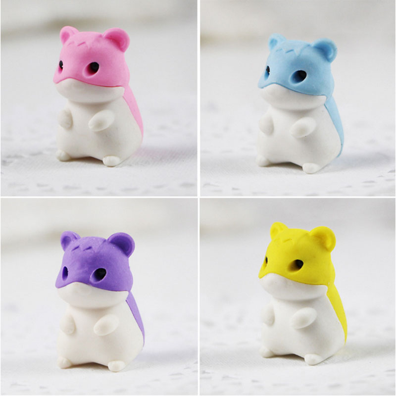 1X Cute Cartoon Eraser Mini Mouse Modelling Eraser Children Stationery Gift Prizes  Kawaii School Office Supplies Papelaria