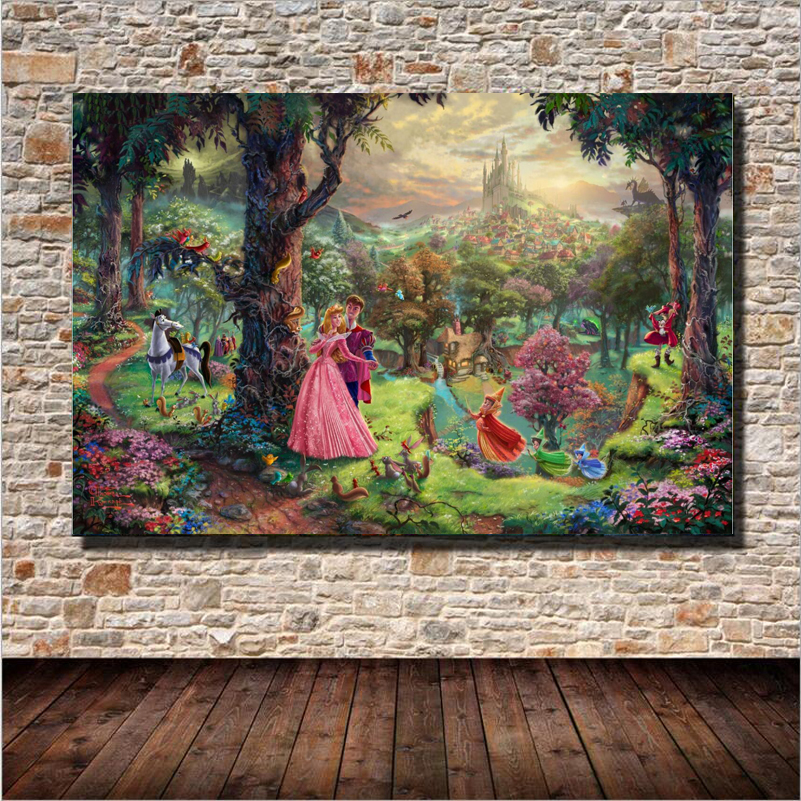 Famous Fairy Tale Landscape Oil Painting Wall Art Home