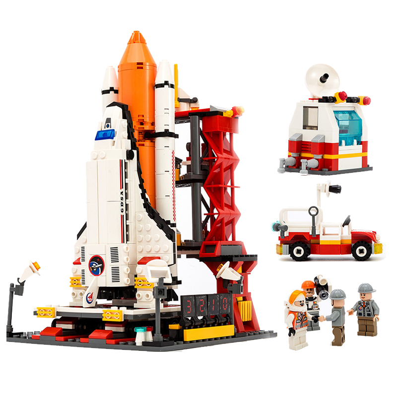 679Pcs City Legoings Spaceport Space The Shuttle Launch Center Bricks Building Block Educational Toys for Children 8815 стоимость