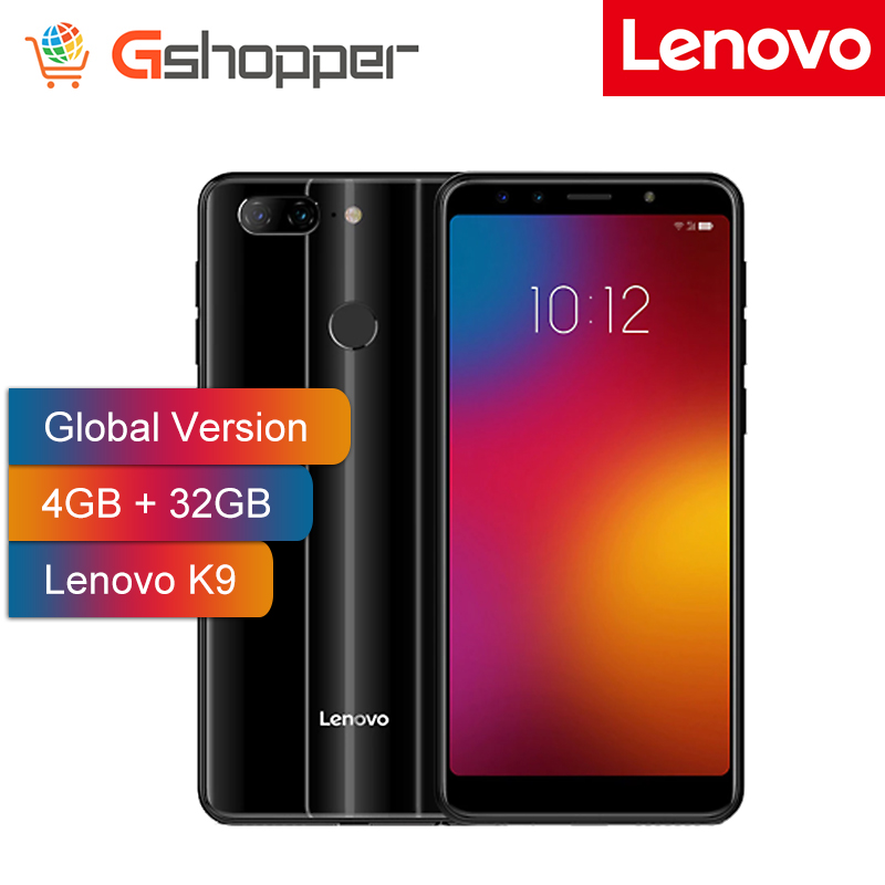 Global Version Lenovo K9 4GB+32GB Cell phone Four Cameras 5.7'' 18:9 Octa Core 3000mAh 4G Android 8.1 Smartphone Fingerprint