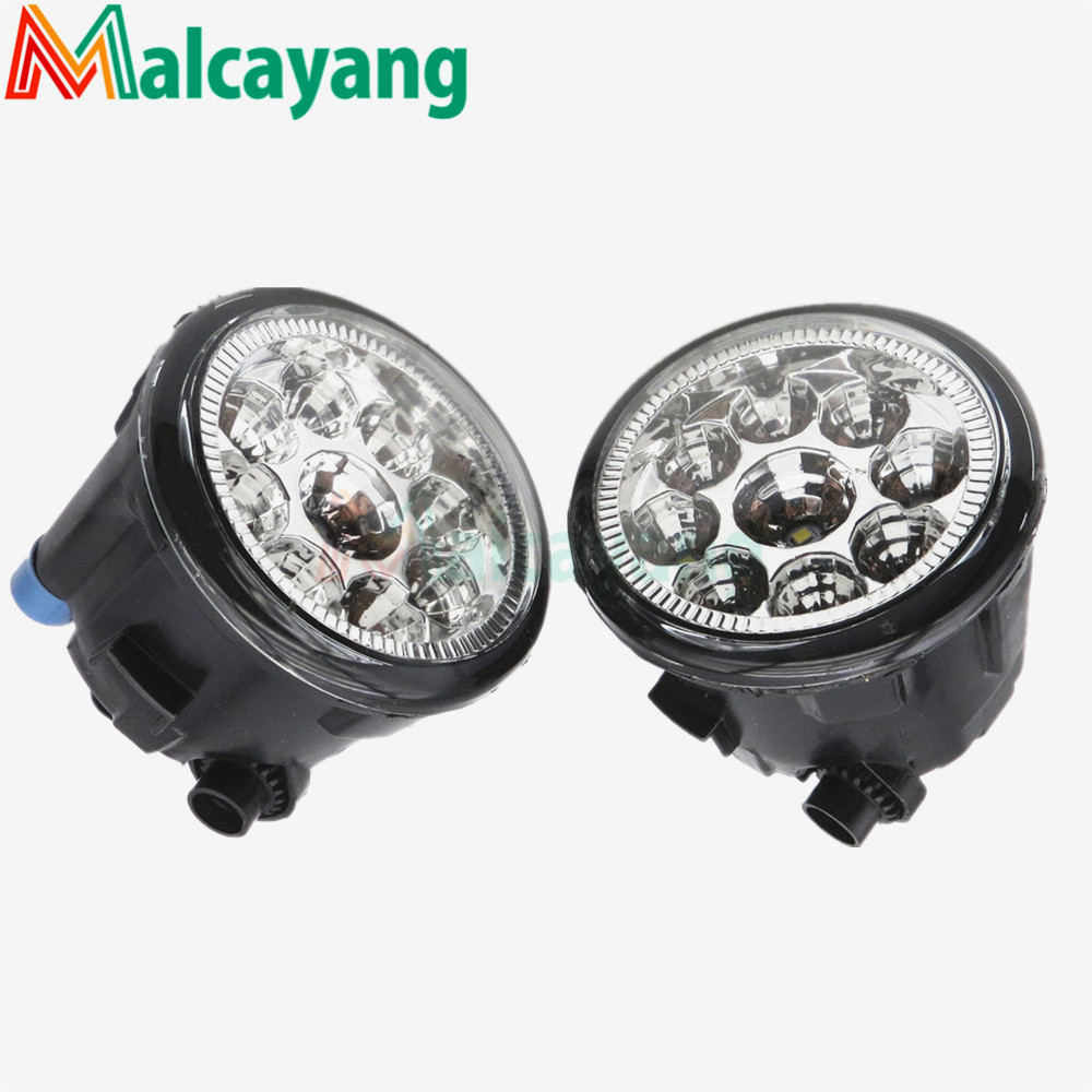 1 SET (Left + right) Car Styling Front LED Fog Lamps Fog Lights 26150-8990B For NISSAN MURANO 2007-2015 2017 free shipping smart wall switch crystal glass panel switch us 2 gang remote control touch switch wall light switch for led