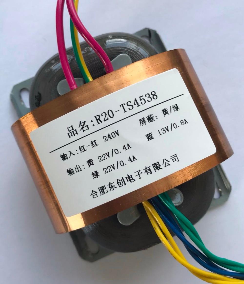 22V 0.4A 22V 0.4A 13V 0.8A Transformer R Core 30VA R20 custom transformer 240V copper shield for DAC pre-amplifier HIFI decoder 22V 0.4A 22V 0.4A 13V 0.8A Transformer R Core 30VA R20 custom transformer 240V copper shield for DAC pre-amplifier HIFI decoder