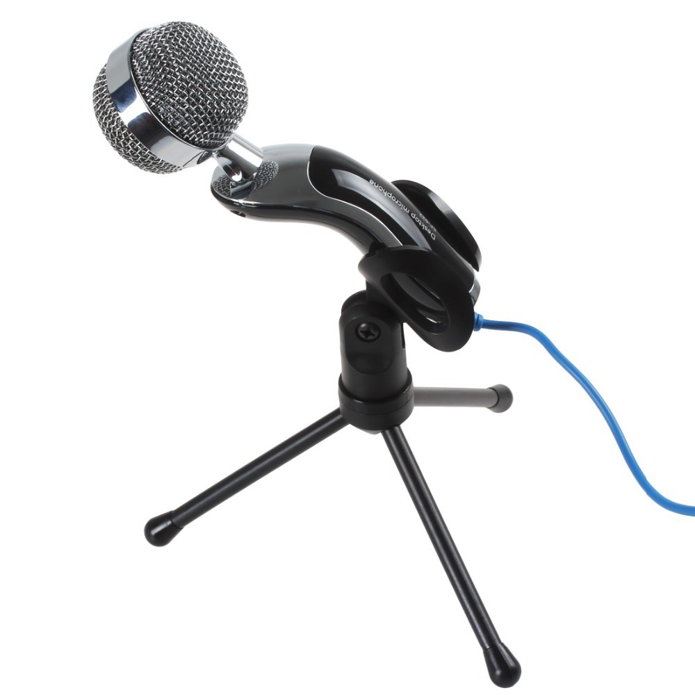 3.5mm Handheld Wired Mcirophone Game Microphones MIC Sound Recording For Laptop / Comput ...