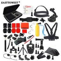 Go pro Accessories Kits Chest Wrist Strap Mini Tripod for Go Pro Hero 5 4 3 SJCAM SJ4000 Xiaomi yi Eken h9 R Action Camera