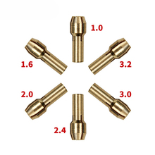 KINGGUARD 1.0/1.6//2.0/2.4/3.0/3.2mm 6 Pieces Mini Drill Brass Collet Chuck for Dremel Rotary Tool Including dremel accessories kingguard m8x0 75 dust blower with british system thread dremel tools accessories suit for copy dremel