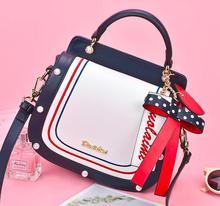цена на Angelatracy 2019 New Arrival Cover Metal Logo Pearl Dot Saddle Summer Bow Heart Korean Women Shoulder Bag Handbag Crossbody Bag