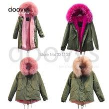parka jacket women long parka,winter parka for girls,winter women pink red apricot fur collar furs coat