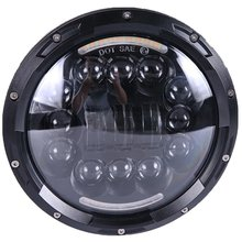 90W 7″Inch Round LED Headlight For Harley Davidson Motorcycle Projector Daymaker DOT Approved