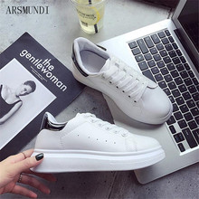ARSMUNDI 2019 Spring New Designer Wedges White Shoes Female Platform Sneakers Women Tenis Feminino Casual M449
