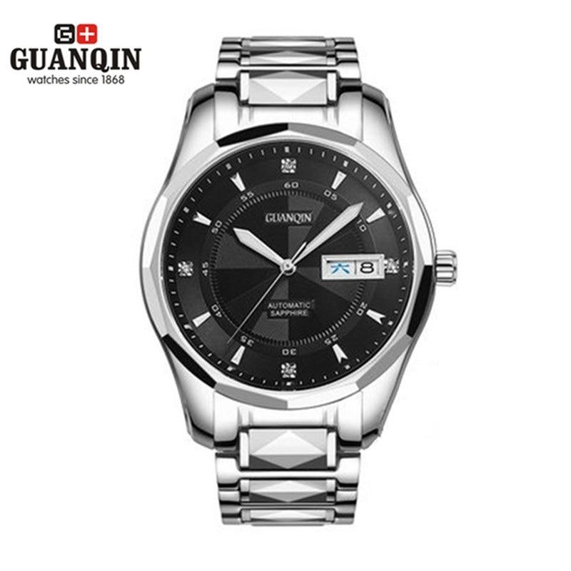 ФОТО Original Brand GUANQIN Watch Men Designer Mechanical Fashion Watch Men 2016 Clock Luxury Sale Watches Male Business Wristwatches