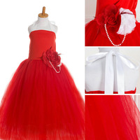 Estilo occidental de la manera halter rojo del vestido de bola para una larga fiesta de vestido formal de las muchachas vestido rojo