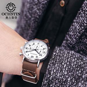 Image 5 - OCHSTIN Chronograph Mens Watch Men Watches Male Casual Top Brand Luxury Quartz Wristwatch Clock Military Clocks Stopwatch 081A