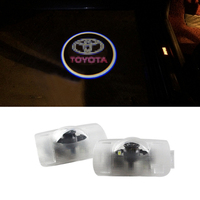 2X Car Door Welcome Llight Ghost Shadow Light LED Logo Projector Light For Toyota Prius Crown