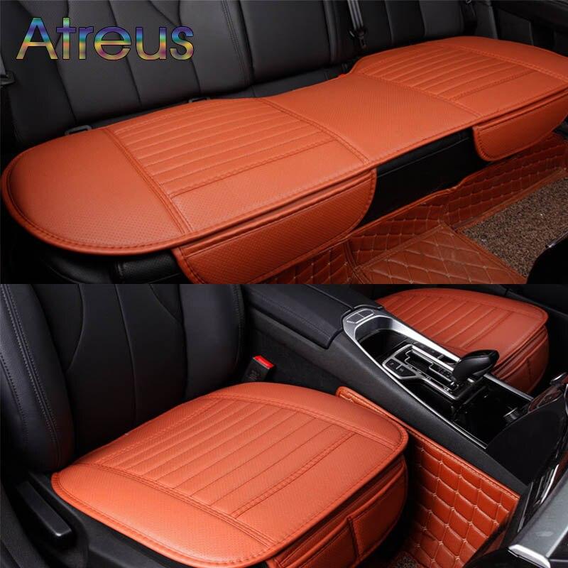 Atreus стайлинга автомобилей Four Seasons кожа подушки на задний/спереди на заднем сиденье Чехлы для мангала для Audi BMW Mercedes для всех автомобиль Интим...