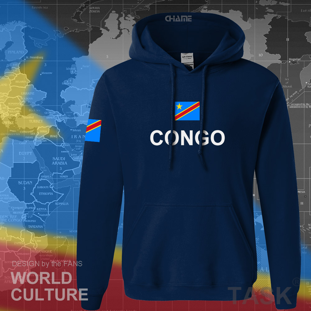 Image 3 - DR Congo hoodies men sweatshirt sweat new hip hop streetwear clothing sporting tracksuit COD DRC DROC Congo Kinsha Congolese-in Hoodies & Sweatshirts from Men's Clothing