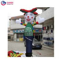 Promotional free air blower inflatable tube man with customized logo 4m inflatable dancer air sky dancer advertising equipment