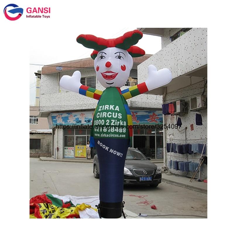 Promotionnel livraison soufflerie d'air gonflable tube homme avec logo personnalisé 4 m gonflable air danseur ciel danseur équipement de la publicité