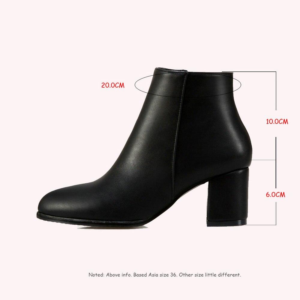 Black Sólidas Suave yellow Las Aiweiyi Europea Tobillo Zapatos Otoño De Pu Martin  Botas Señoras white ... 74f9a5b36bee