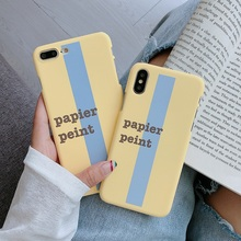 все цены на Simple Literary Phone Case For iphone X XS XS MAX XR English Word Papier Peint Hard PC Cover For iphone 6 6S 7 8 Plus Coque Capa