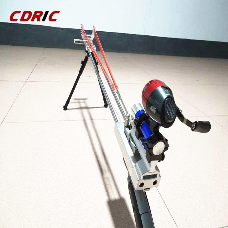 Haute élastique fronde assemblage Composite tir à l'arc pratique de pêche fronde chasse en plein air fronde arc
