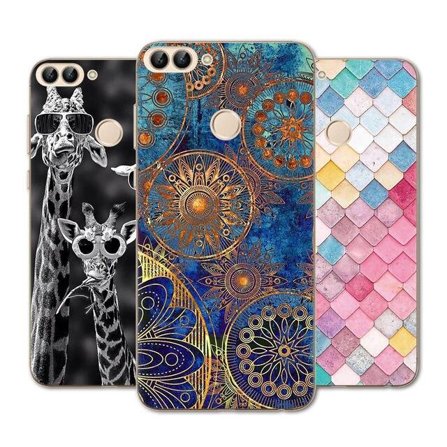 Phone Case For Huawei P20 P20 Lite P20pro nova3e NOVA2 Lite  Y9 2018 Enjoy8 Plus Enjoy7s Honor7C Case Silicone Flower Back Cover