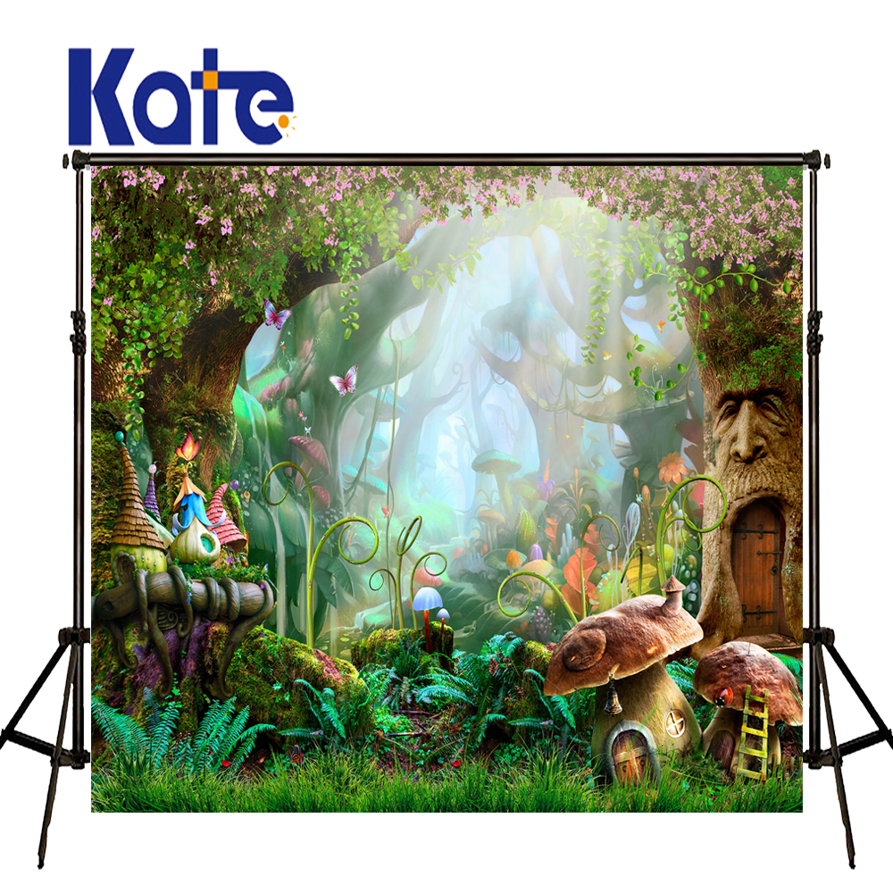 Kate Photography Backdrops Cartoon Forest Background Forest Fairies Backdrop Flower Background Children Photo Background