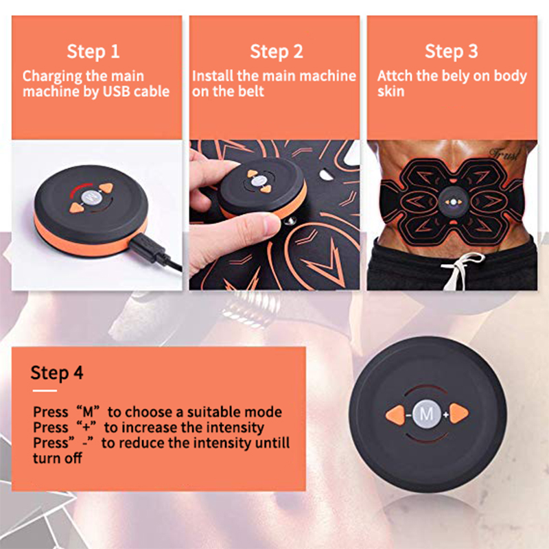 electric abs stimulator slimming belt for man and woman