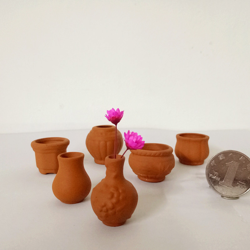 Online buy wholesale mini terracotta pots from china mini for Small clay pots