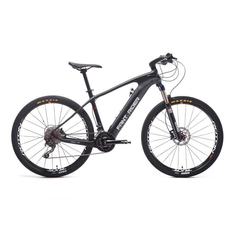 Углерода волокно Электрический горный велосипед 27,5 дюймов Гибридный Smart литиевых PAS Средний двигатель MTB DEROE EBike город