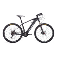 Carbon Fiber Electric Mountain Bicycle 27 5inch Hybrid Carbon Fiber Smart Lithium PAS Middle Motor MTB