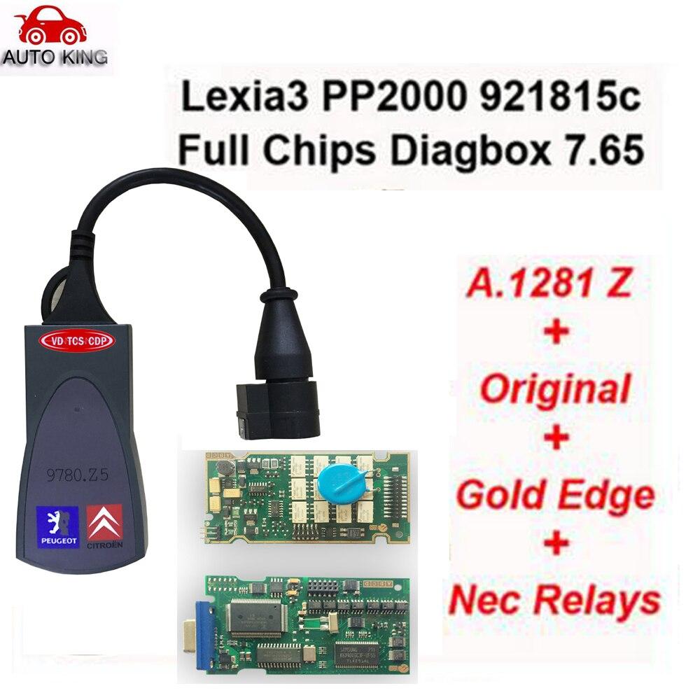 Цена за Заводская распродажа! PP2000 V25 Lexia3 Lexia-3 V48 Diagbox 7.65 последовательных 921815C с оригинальным полным чип Lexia 3 PP2000 инструмент диагностики
