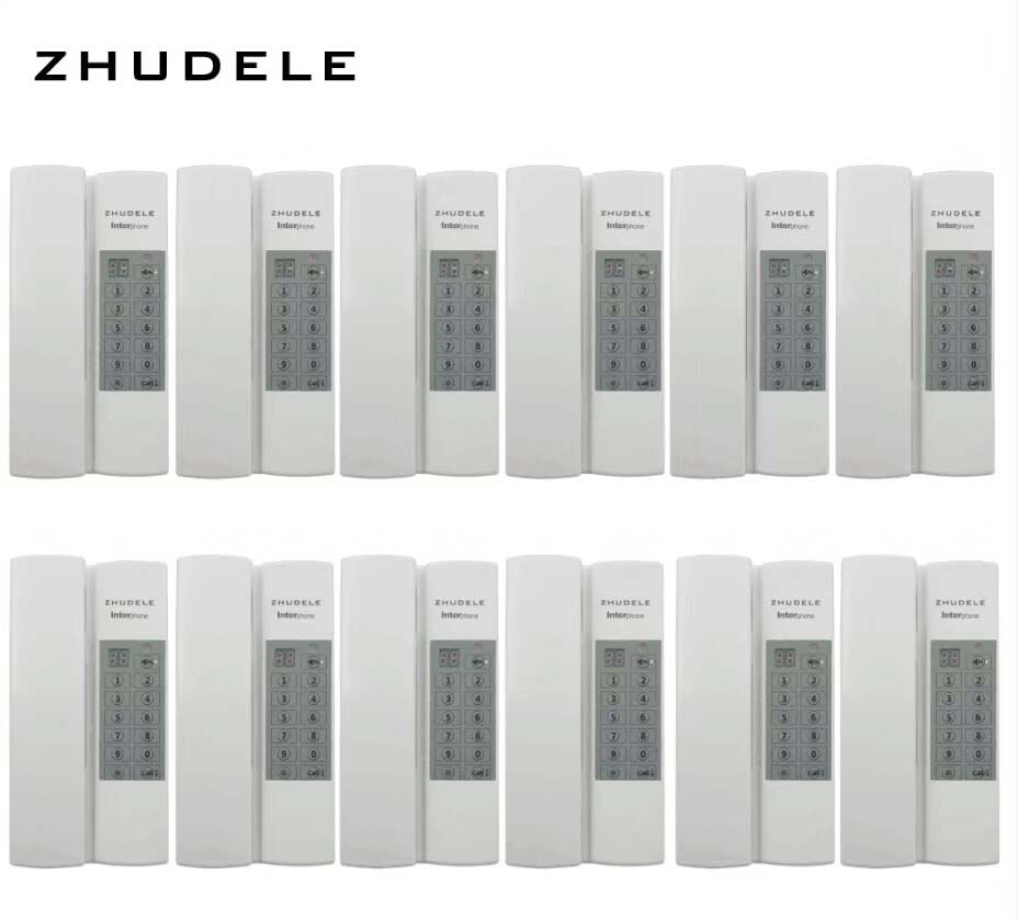 Entsperren optional Zhudele Angemessener Preis Innen Sicheren & Komfortable Sprech System 12-handles W/t Broadcast/gruppe Aufruf