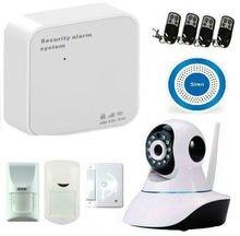 Sistema de alarma gsm ladrón del hogar de seguridad wifi inalámbrico pet motion sensor detector de cámara ip wifi control remoto android ios app