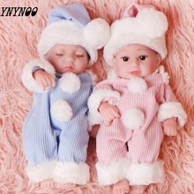 купить 28cm Children's Toy Reborn Baby Doll Simulation Baby Princess Doll Silicone Toy  Soft Vinyl Real Cute Child Christmas Gift по цене 2199.06 рублей